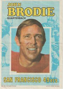 1971-Topps-Pin-Ups-18-John-Brodie-poster-San-Francisco-49ers