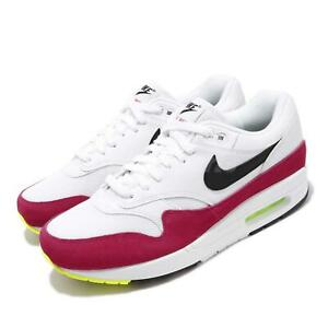 wholesale dealer 4647d 991f5 Nike Air Max 1 White Black Volt Mens Running Shoes NSW Day 326 ...