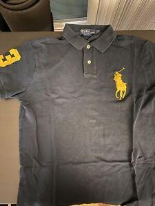 Details about Polo Ralph Lauren Men's Big Pony Custom Slim Fit Mesh Polo Shirt