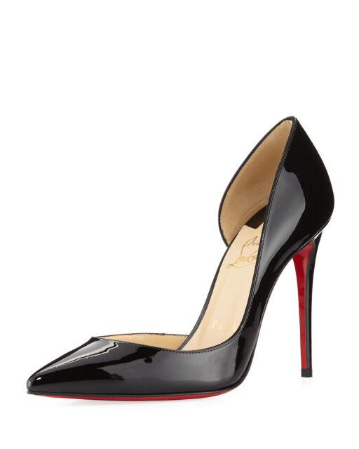 official photos 5733b cd1d2 100 Auth Women Louboutin Iriza 100 Black Patent Leather Pumps/heels US 7