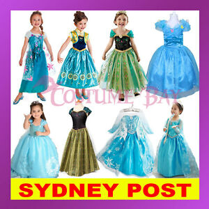 Image is loading Disney-Frozen-Costume-Elsa-Anna-Queen-Princess-Girl-  sc 1 st  eBay & Disney Frozen Costume Elsa Anna Queen Princess Girl Birthday Party ...