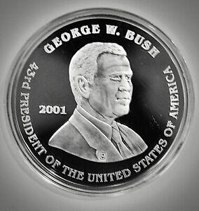 2001 george w bush silver coin