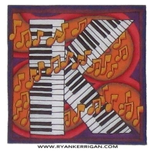 """by KERRIGAN phish alPHabet MAGNETS 2/""""x2/"""" letter K for keyboard army"""