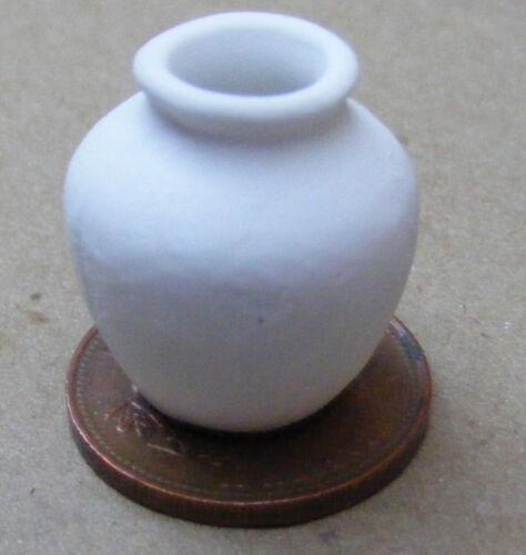 Florero De Cerámica Blanco 1:12 Escala Sin Esmaltar tumdee Casa de Muñecas en Miniatura Ornamento W99