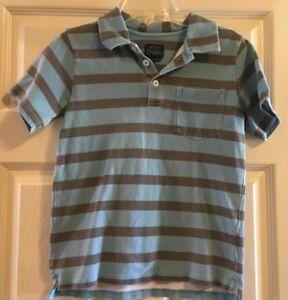 Mini-Boden-Striped-Polo-Short-Sleeve-Polo-Shirt-Boys-Size-7-8