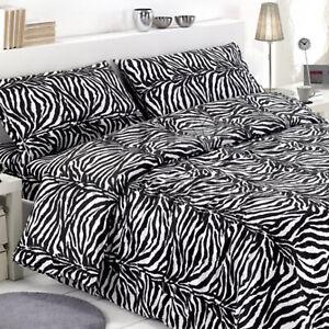 Cuscini Zebrati.Federa Copri Cuscino Letto Zebrato Animalier Bianco Nero 100