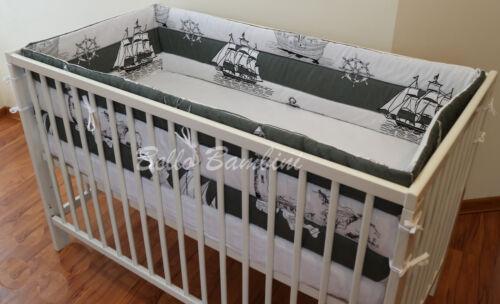 Rembourré 4 faces pépinière Pare-chocs 420 360cm long 4 berceau ou lit bébé Tous les pare-chocs ronde