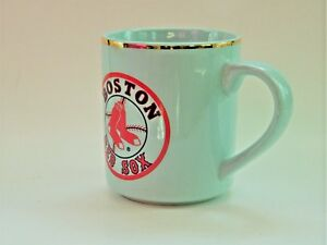 Image Is Loading Boston Red Sox Coffee Mug Gold Rimmed Cup