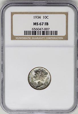 Coins & Paper Money Cheap Sale 1934 Merkur Kopf Silber Dime 10c Ngc Ms67fb Zertifiziert Münze Jb248 Paper Money: World