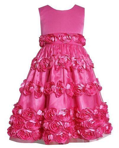 NEW Toddler Girls Bonnie Jean Flower Bonaz Social Dress Holiday SZ 2T 3T