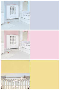 Image Is Loading Plain Nursery Wallpaper Sugared Almonds Pink Or Blue