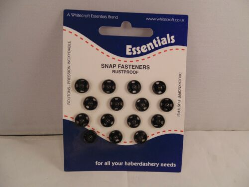 Whitecroft Essential Snap Fasteners Various to choose from