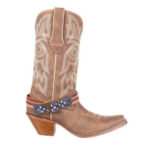 Durango Ladies Khaki Khaki Khaki Flag Accessory Shank Strap Western Boots DRD0208 0e2ad9