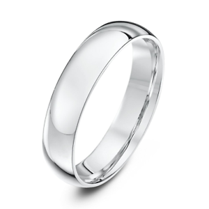 NEW-9ct-White-Gold-Court-Wedding-Ring-2-3-4-5-6mm-Comfort-Fit-Wedding-Band