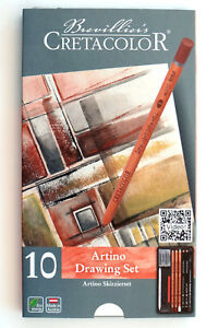Cretacolor-Artino-10-Piece-Artist-Quality-Drawing-Set-various-Pencils-amp-Sticks