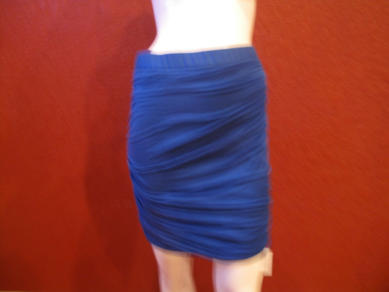 RAG & BONE STRETCHY RUCHED MINI SKIRT blueE SIZE 4