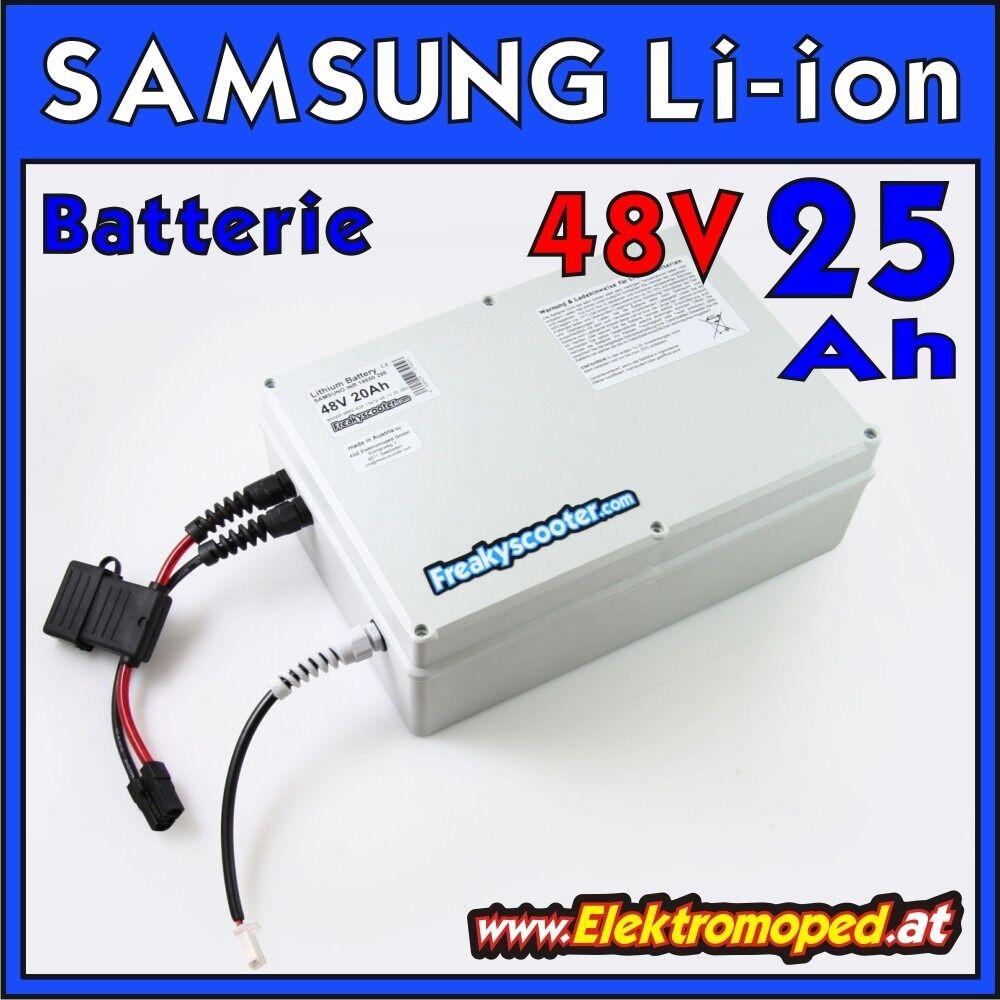 Ersatzteil Elektro-Scooter 48V 25Ah SAMSUNG Lithium Batterie - Li-Ion 1200Wh