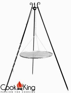 Dreibein Schwenkgrill mit Edelstahl Grillrost Ø 50 60 70 80 cm für Feuerschale