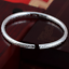 Charm-Women-925-Sterling-Silver-Plated-Carved-Fine-Cuff-Bangle-Bracelet-Jewelry thumbnail 4