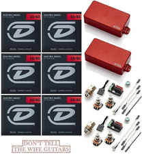 EMG HZ H4 RED PASSIVE HUMBUCKER GUITAR PICKUP SHORT SHAFT POTS /& WIRING
