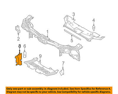 FORD OEM Mustang Radiator Support-Side Air Baffle Duct Deflector Left DR3Z8311A