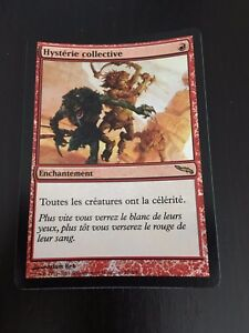 MTG-MAGIC-MIRRODIN-MASS-HYSTERIA-FRENCH-HYSTERIE-COLLECTIVE-NM-FOIL