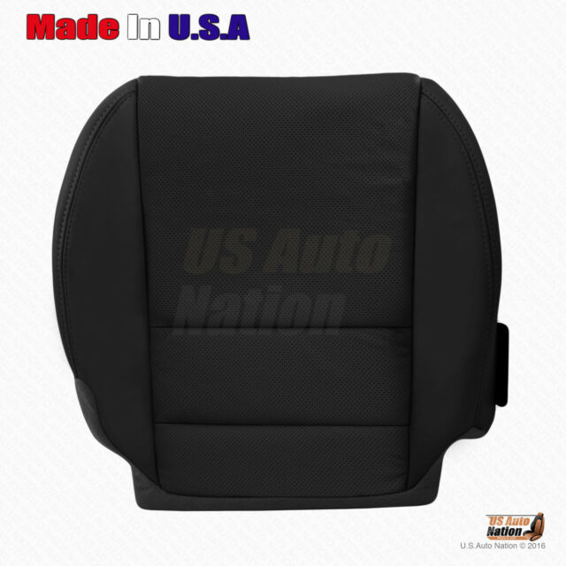 Passenger Bottom Black Perforated Leather Seat Cover For