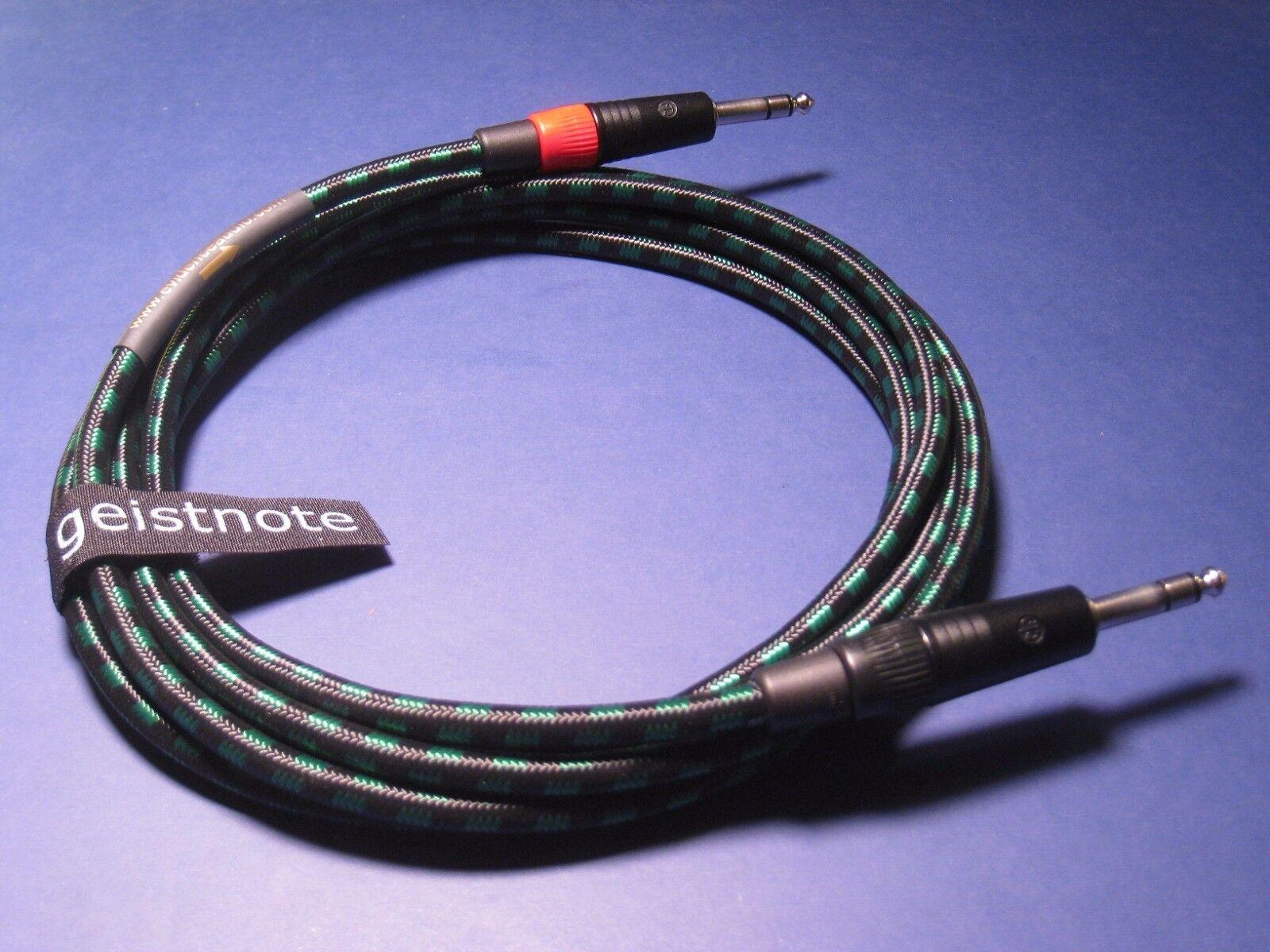 15' TRS TRS TRS cable XLR Equilibrado  EA Lyric HG 15 pies DORADAS O NIKEL Enchufes  Bolsa Gratis 3583a5
