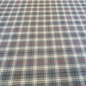 100-Yorkshire-Wool-Nautical-Blue-Check-Tartan-Curtain-Craft-Fabric-2-3-Metres