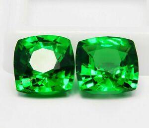 IGL Certified 19 Ct Green Tsavorite Garnet Loose Gemstone Pair