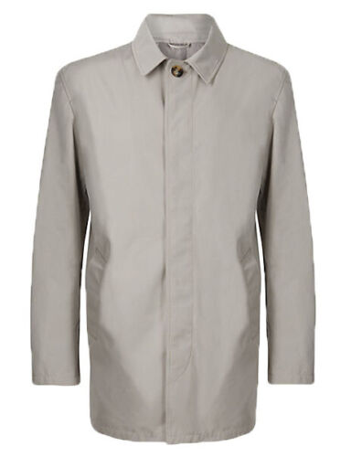 Ex Marks and Spencer Mens Mac with Stormwear™ in Taupe Size S XXXL