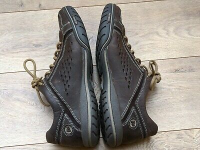 men's merrell auckland brown leather casual/travel/walking