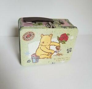 Disney Winnie Pooh Garden Mini Tin Tote Lunchbox
