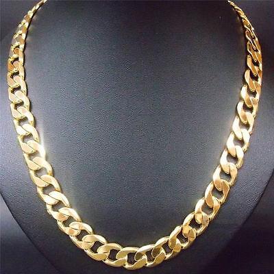 "Unisex Gold Filled Solid Cuban Curb Chain 20""x 6mms Heavy &, Chunky Weich Und Leicht"