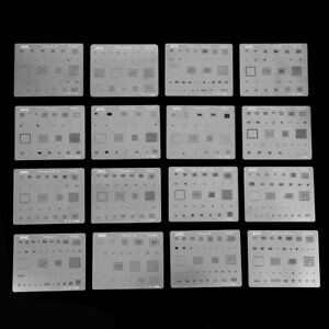 5pcs BGA-Chips Reballing Stencil Dedicate Kit Solder Template For Smartphone