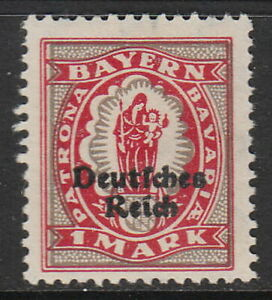 Stamp-Germany-Reich-Mi-129-Sc-266-1920-Bavaria-Mary-Christ-Overprint-MH