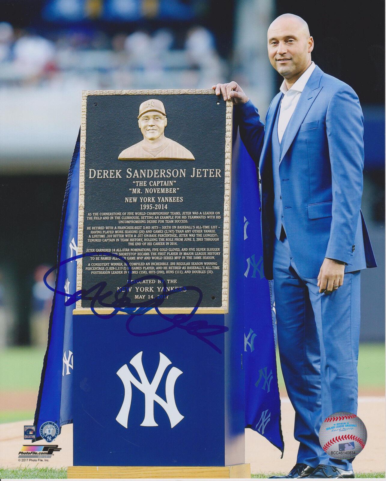 Derek Jeter New York Yankees 8X10 Retirement Ceremonia Firmado 8X10 Yankees Foto 5d75d6