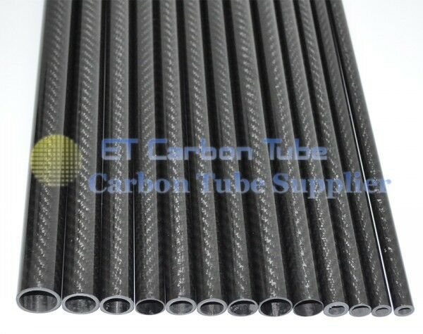 46MM OD X 44MM ID X 500MM 100% Roll Wrapped Carbon Fiber Tube 3K   Tubing 1-4pcs