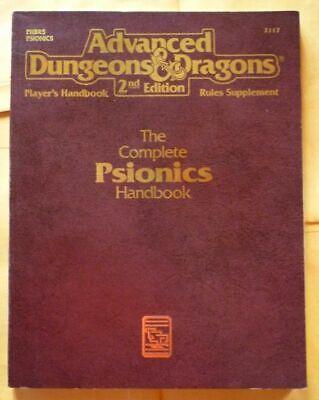 Completo Psionics Handbook Advanced Dungeons & Dragons 2nd Edizione Tascabile-mostra Il Titolo Originale