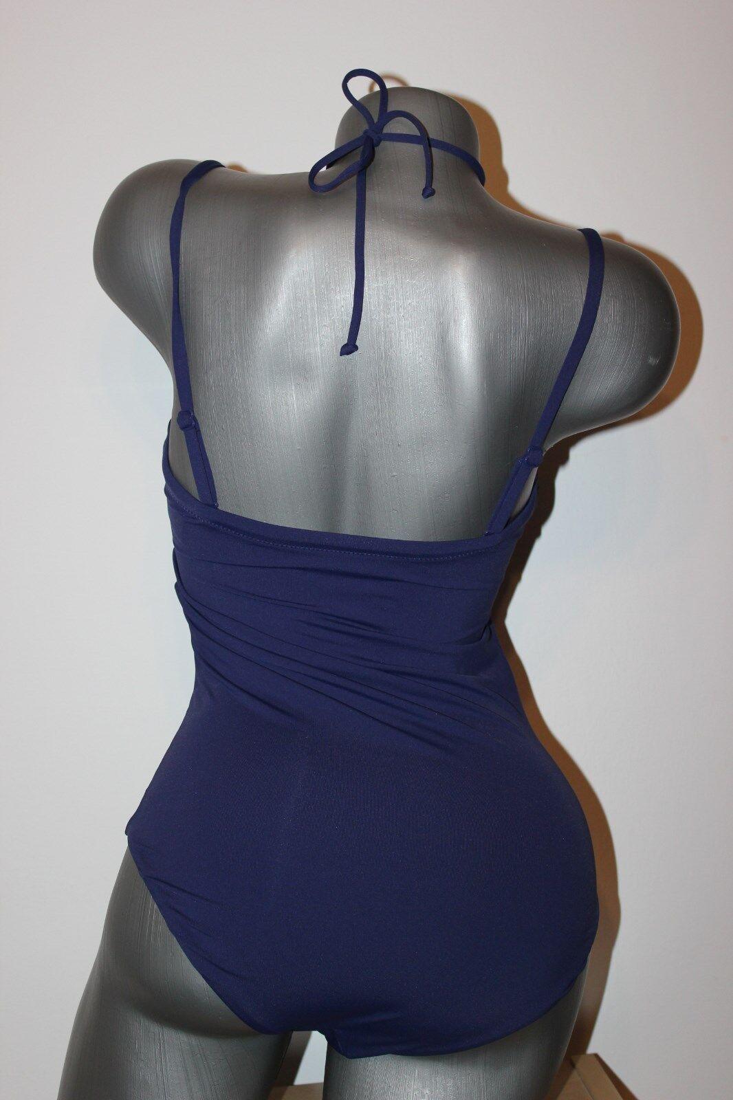 TRIUMPH gefütterter Costume da bagno Venus Venus Venus Elegance 17 OPD SD tg. 38 B blu con allacciatura al collo 802b9f