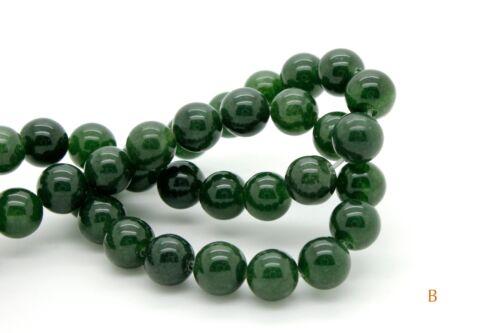 Green, Dark Green Smooth Round 8mm Green Ball Sphere Loose Gemstone Beads