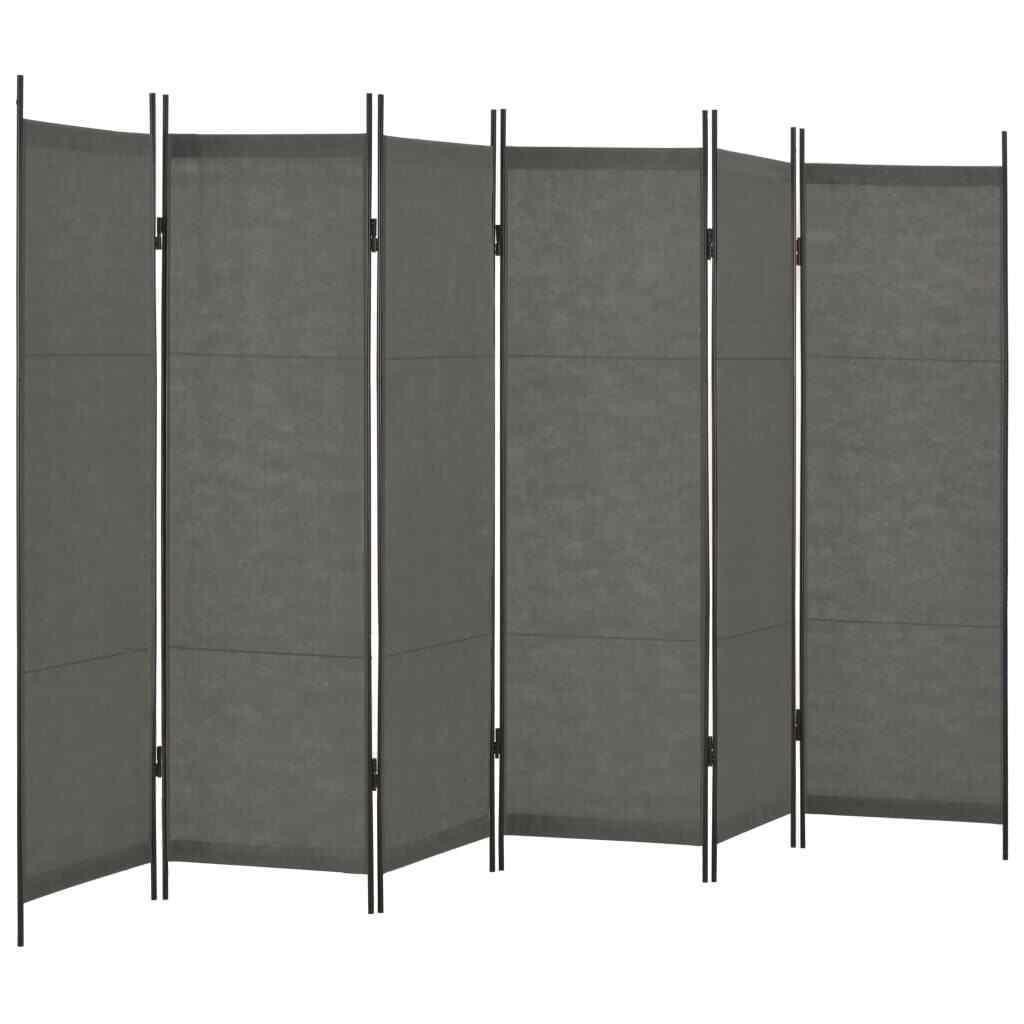 VidaXL Raumteiler 6-tlg. Anthrazit Paravent Trennwand Umkleide Spanische Wand