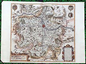XVII-eme-Metz-Le-Pays-Messin-Superbe-Carte-par-Jean-Le-Clerc-Editee-en-1617