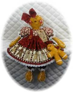 ~~ Primitive Gingerbread Doll w/baby ~~ PATTERN #66