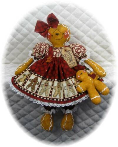 Primitive Gingerbread Doll wbaby PATTERN #66