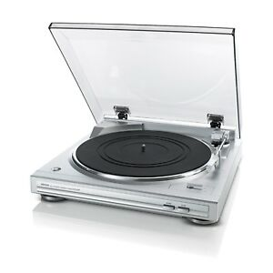 Record-player-Denon-DP29-F-Traction-belt-and-head-with-Chassis-Aluminum