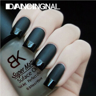 15ML BK Super Matte Transfiguration Nail Polish Top Coat Frosted Surface Oil