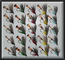 25 TEALS TROUT SCOTTISH HAND TIED FISHING FLIES WET TEAL FLY for rod reel line 8