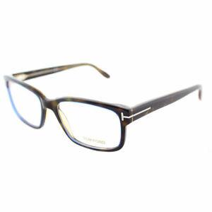2d88ba369c9b Tom Ford FT 5313 055 Dark Havana Plastic Square Eyeglasses 55mm ...
