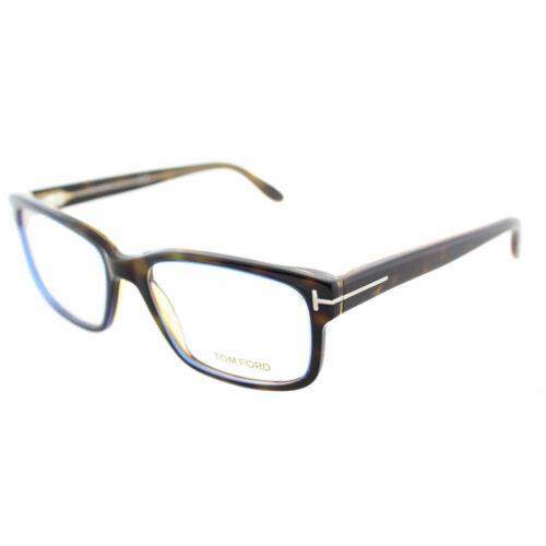 Tom Ford FT 5313 055 Dark Havana Plastic Square Eyeglasses 55mm